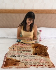 """BL10011 - My Daughter Lion Dad Letter Small Fleece Blanket - 30"""" x 40"""" aos-coral-fleece-blanket-30x40-lifestyle-front-12"""