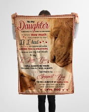 """BL10011 - My Daughter Lion Dad Letter Small Fleece Blanket - 30"""" x 40"""" aos-coral-fleece-blanket-30x40-lifestyle-front-14"""