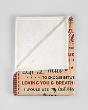 """BL10011 - My Daughter Lion Dad Letter Small Fleece Blanket - 30"""" x 40"""" aos-coral-fleece-blanket-30x40-lifestyle-front-17"""