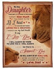 """BL10011 - My Daughter Lion Dad Letter Small Fleece Blanket - 30"""" x 40"""" front"""