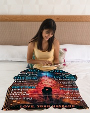 """BL10087 - To My Wife Whom My Soul Loves Small Fleece Blanket - 30"""" x 40"""" aos-coral-fleece-blanket-30x40-lifestyle-front-12"""