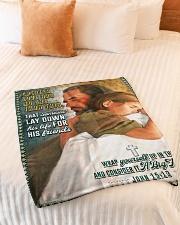 "JES10045BL - Jesus Christ  Small Fleece Blanket - 30"" x 40"" aos-coral-fleece-blanket-30x40-lifestyle-front-01"