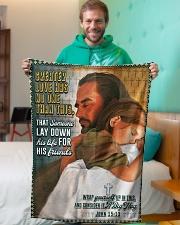 "JES10045BL - Jesus Christ  Small Fleece Blanket - 30"" x 40"" aos-coral-fleece-blanket-30x40-lifestyle-front-09"