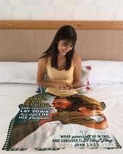 "JES10045BL - Jesus Christ  Small Fleece Blanket - 30"" x 40"" aos-coral-fleece-blanket-30x40-lifestyle-front-12"