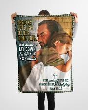 "JES10045BL - Jesus Christ  Small Fleece Blanket - 30"" x 40"" aos-coral-fleece-blanket-30x40-lifestyle-front-14"