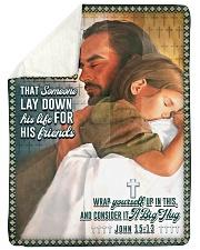 JES10045BL - Jesus Christ  Sherpa Fleece Blanket tile