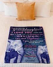 "BL10003 - Beloved Granddaughter Elephant 1 Small Fleece Blanket - 30"" x 40"" aos-coral-fleece-blanket-30x40-lifestyle-front-04"
