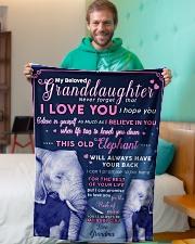 "BL10003 - Beloved Granddaughter Elephant 1 Small Fleece Blanket - 30"" x 40"" aos-coral-fleece-blanket-30x40-lifestyle-front-09"