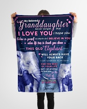 "BL10003 - Beloved Granddaughter Elephant 1 Small Fleece Blanket - 30"" x 40"" aos-coral-fleece-blanket-30x40-lifestyle-front-14"