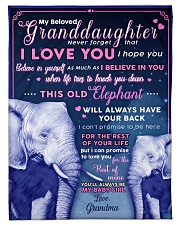 "BL10003 - Beloved Granddaughter Elephant 1 Small Fleece Blanket - 30"" x 40"" front"