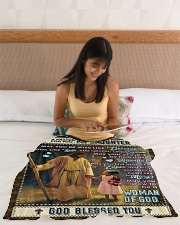 """JES10062BL -  A Prayer For Daughter Small Fleece Blanket - 30"""" x 40"""" aos-coral-fleece-blanket-30x40-lifestyle-front-12"""