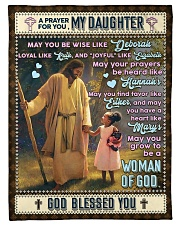 """JES10062BL -  A Prayer For Daughter Small Fleece Blanket - 30"""" x 40"""" front"""