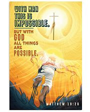 JES10030PT - Jesus Christ All Things Possible 11x17 Poster front