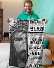"JES10102 - Jesus Way Maker Miracle Worker Small Fleece Blanket - 30"" x 40"" aos-coral-fleece-blanket-30x40-lifestyle-front-09"