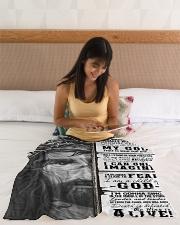 "JES10102 - Jesus Way Maker Miracle Worker Small Fleece Blanket - 30"" x 40"" aos-coral-fleece-blanket-30x40-lifestyle-front-12"