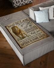 """FBC10042 - Lion To My Dear Son-In-Law Small Fleece Blanket - 30"""" x 40"""" aos-coral-fleece-blanket-30x40-lifestyle-front-03"""