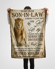 """FBC10042 - Lion To My Dear Son-In-Law Small Fleece Blanket - 30"""" x 40"""" aos-coral-fleece-blanket-30x40-lifestyle-front-14"""