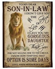"""FBC10042 - Lion To My Dear Son-In-Law Small Fleece Blanket - 30"""" x 40"""" front"""
