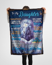 """BL10048A - To My Daughter Dad Letter Lion Small Fleece Blanket - 30"""" x 40"""" aos-coral-fleece-blanket-30x40-lifestyle-front-14"""