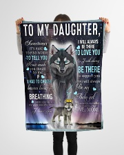 """FBC10018 - Wolf To My Daughter Small Fleece Blanket - 30"""" x 40"""" aos-coral-fleece-blanket-30x40-lifestyle-front-14"""