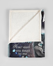 """FBC10018 - Wolf To My Daughter Small Fleece Blanket - 30"""" x 40"""" aos-coral-fleece-blanket-30x40-lifestyle-front-17"""