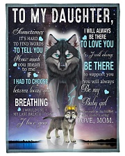 """FBC10018 - Wolf To My Daughter Small Fleece Blanket - 30"""" x 40"""" front"""