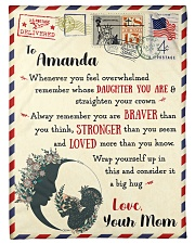 """FBL10021A To Amanda Love Mom Letter Family Small Fleece Blanket - 30"""" x 40"""" front"""