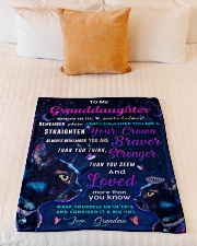 """BL10037P - Granddaughter Cat Night - Personalized Small Fleece Blanket - 30"""" x 40"""" aos-coral-fleece-blanket-30x40-lifestyle-front-04"""