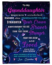 """BL10037P - Granddaughter Cat Night - Personalized Small Fleece Blanket - 30"""" x 40"""" front"""