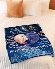 """BL10080 - To My Wife Once Upon A Time Small Fleece Blanket - 30"""" x 40"""" aos-coral-fleece-blanket-30x40-lifestyle-front-01"""