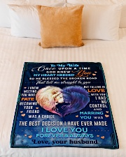 """BL10080 - To My Wife Once Upon A Time Small Fleece Blanket - 30"""" x 40"""" aos-coral-fleece-blanket-30x40-lifestyle-front-04"""
