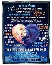 """BL10080 - To My Wife Once Upon A Time Small Fleece Blanket - 30"""" x 40"""" front"""