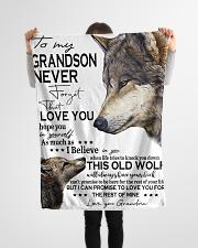 "FBC10050 - Wolf Amazing Grandson Small Fleece Blanket - 30"" x 40"" aos-coral-fleece-blanket-30x40-lifestyle-front-14"