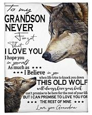 "FBC10050 - Wolf Amazing Grandson Small Fleece Blanket - 30"" x 40"" front"