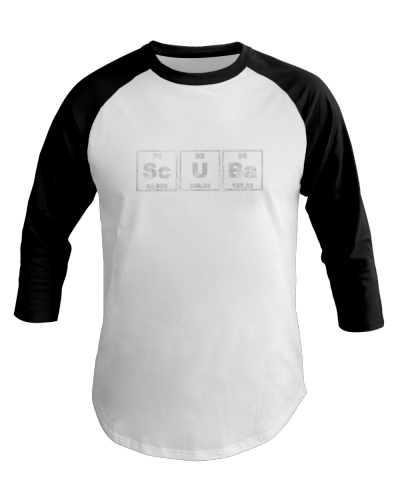 scuba driving periodic table funny tees for divers