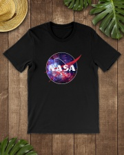 NASA Purple Pink Mix Galaxy Style Logo Graphic
