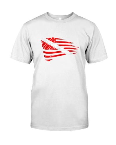 Scuba Diving Dive Flag Patriotic T-Shirt