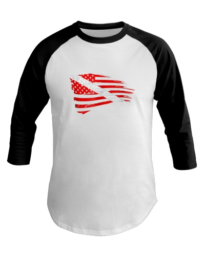 Scuba Diving Dive Flag Patriotic T-Shirt