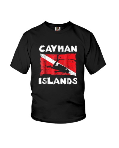 Cayman Islands Scuba Diving Flag vintage