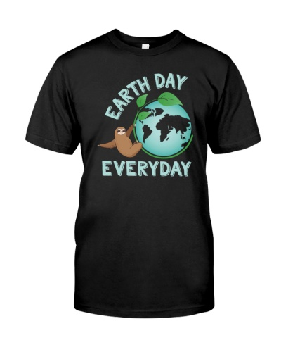 Earth Day Sloth Green Planet T Shirt