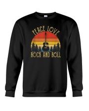 2d8f7e220 Peace Love Rock And Roll Guitar Retro Hippie Shirt