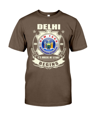 Delhi-NY Flag awesome Tshirt