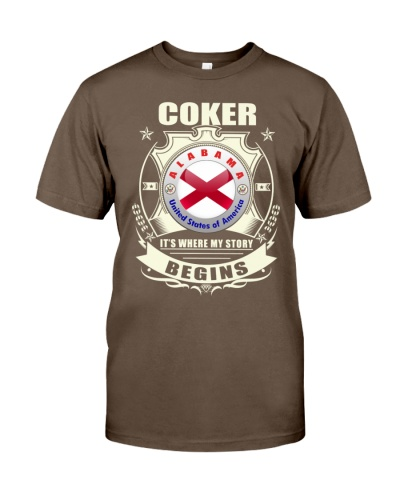 Coker-AL Flag awesome Tshirt