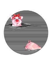 TT94 Pink Pig Circle Coaster thumbnail