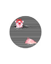 TT94 Pink Pig Circle Magnet thumbnail