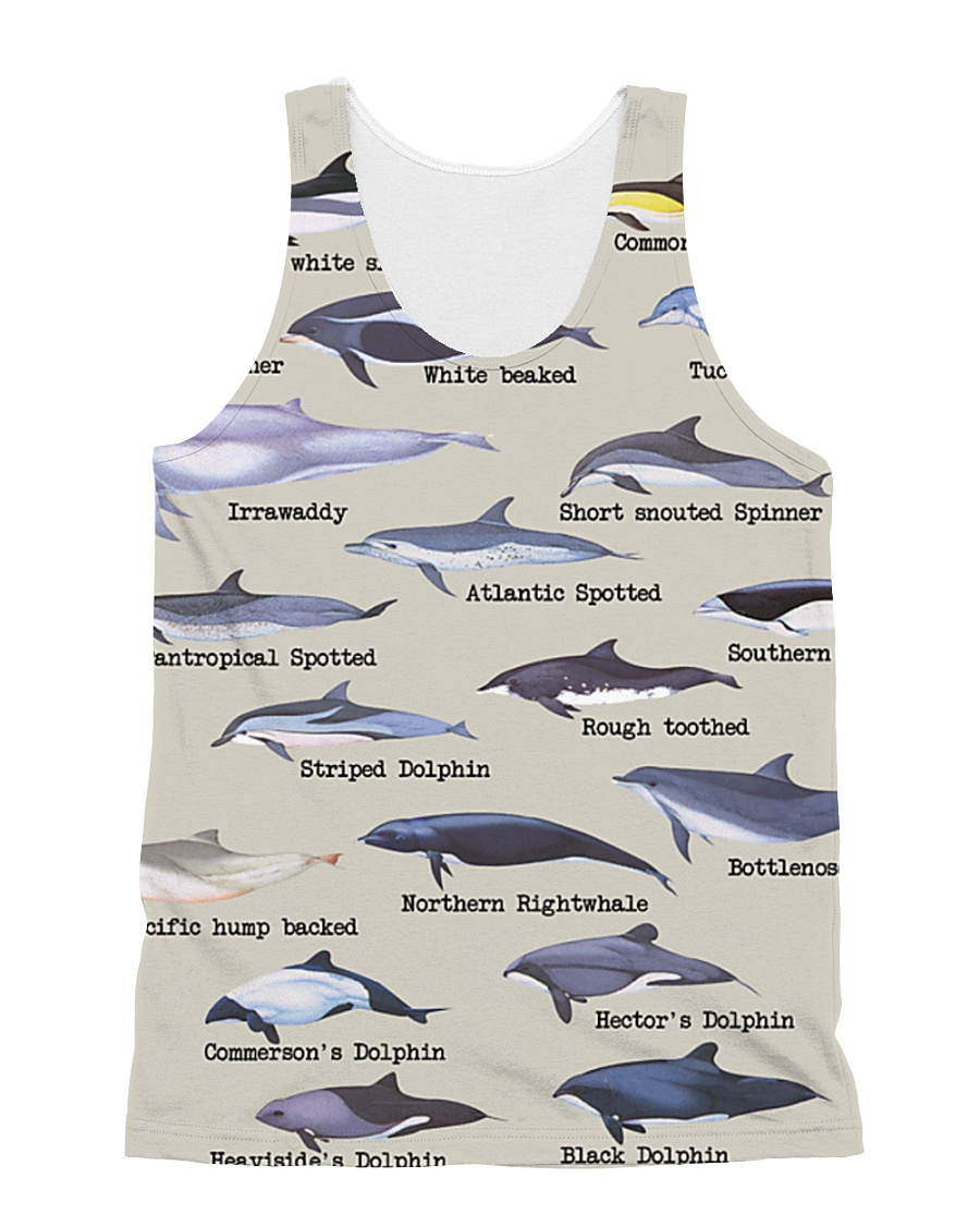 HD Defend Dolphin Full All-over Unisex Tank showcase
