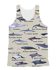 HD Defend Dolphin Full All-over Unisex Tank front