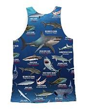 HD Your Shark Full All-over Unisex Tank back