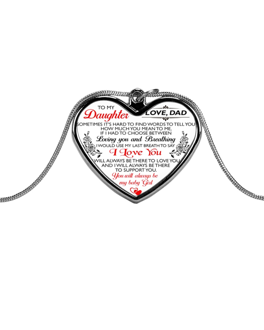 HQD My Baby Girl Necklace Metallic Heart Necklace