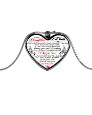 HQD My Baby Girl Necklace Metallic Heart Necklace front